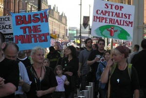 Protesters at Labour Party Conference, Manchester, 2006.